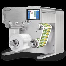 trojan t2-c color label printer mini-press